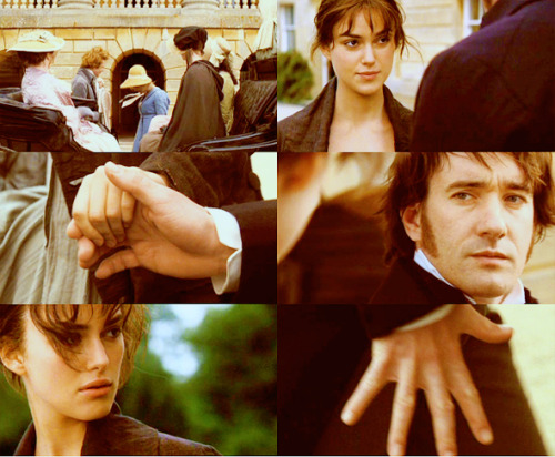 During that time physical contact between men and women was minimal, and that was the first time they touched skin to skin (without gloves on)… Perhaps one of my favorite scenes, simply because it was so subtle.