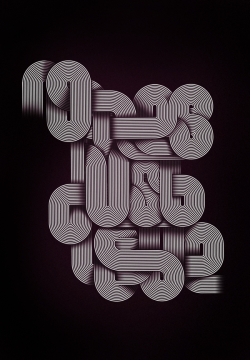 beautifultype:  No lies, just love - Experimental type design from Jordan Metcalf - Link
