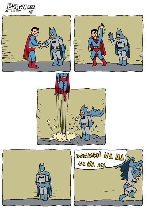 iwannaseeyousmile:  HAHAH! i still love batman. :))  Aawww! hahaha! Cuuute. :) Love you, Batman!