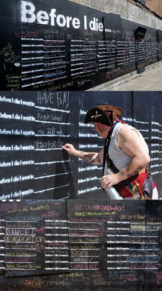 """before i die"" by candy chang http://candychang.com/before-i-die-in-nola"