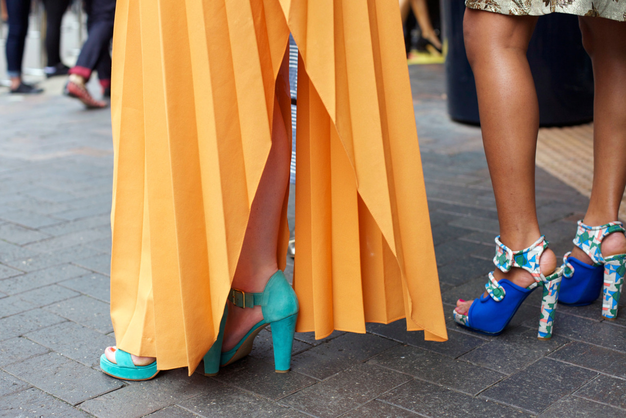 themanrepeller:  The legs at Australia Fashion Week know what's up. Or rather, down. At their ankles. (via Phil Oh for Vogue)