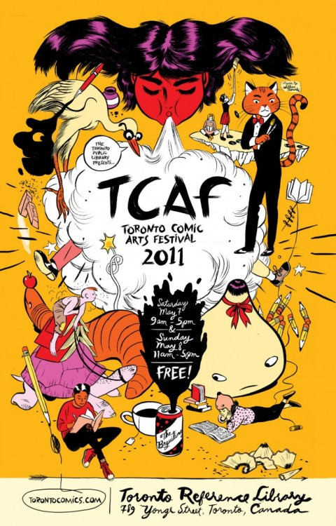 I will be in Toronto at TCAF this weekend! @ the Toronto Reference Library I will be at TABLE 155 selling my wares. such wares will include prints and comics and GREAT SHOWDOWNS COASTERS (coasters… very limited supply) more info HERE so come over!  it's FREE!