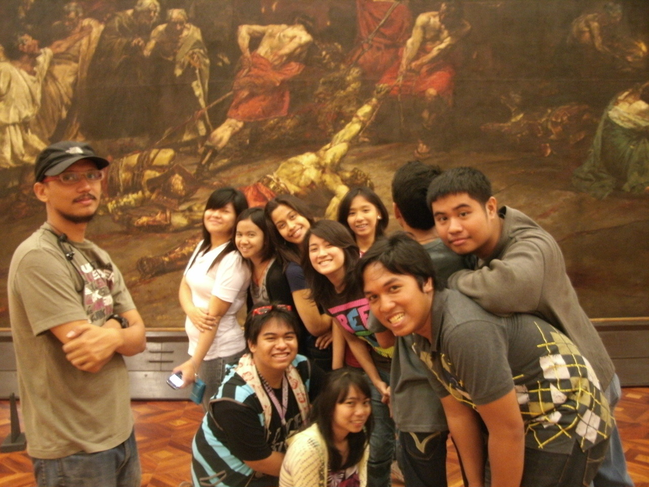 "fielmyron:  This was last term during our Gallery visit in National Museum, my classmates and our professor together with Juan Luna's world famous painting which is ""Spolarium"". We had a wonderful experience during the Gallery Visit and it's like going back in time and knowing the history of Philippines."