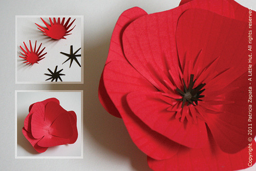 What a wonderful blog on paper crafting!  These flowers are just charming as well! (via A Little Hut - Patricia Zapata: how to make a paper flower)