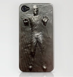 Steve Jobs in Carbonite Block  I could buy an iPhone 4 just to have one of this…