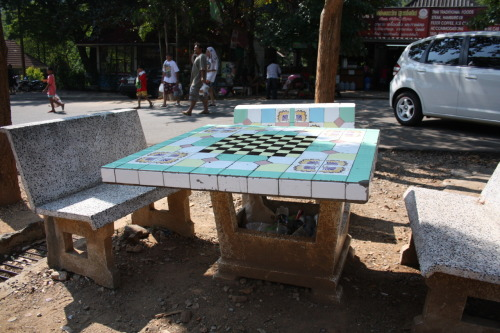 Anyone for chess?   (Outside Erawan Falls, Thailand, 1/2011)