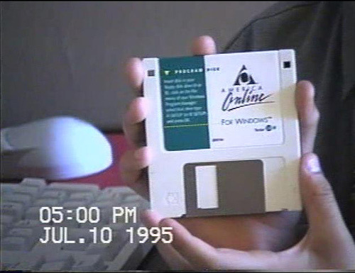 imremembering:  AOL Floppy   We got so many of these in the mail… It felt like they sent new disks every month of the year.  They turn up all over the house to this day.