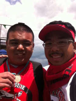 My Bro received a 2nd Gold Medal for the Standing Long Jump! Congrats!