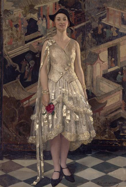 La robe d'argent by Paul Albert Laurens, ca 1928 France, Musee d'Art et d'Industrie
