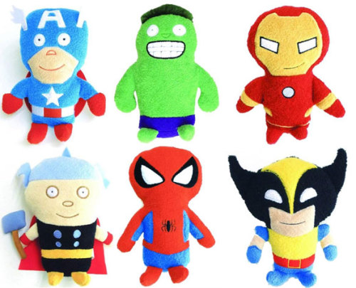 Footzeez Terry Cloth Marvel Plushies are Something Else