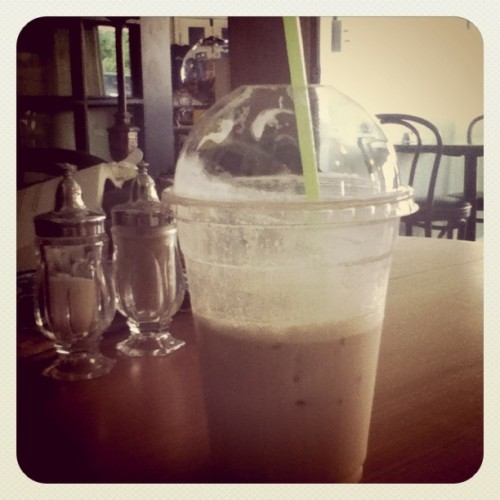 Iced coffee!! (Taken with Instagram at Black Cow Coffee House)