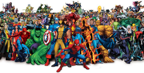 WE ARE SUPERHEROES I feel like this is a family portrait of all of us, the fitblrs/strengthblrs. We are capable of anything we put our minds to and so much more. Like superheroes we have our struggles and weaknesses, but we overcome. Always rising up when defeat is glooming over us. Never backing down. Never surrendering. Fight on warriors.