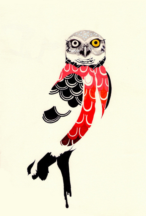 Owl painting by Coruja