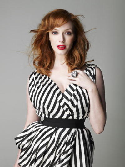 thank you, Christina Hendricks, for being a full-bodied woman who is totally completely gorgeous and awesome. thanks for showing us it's not all bad to rock curves.