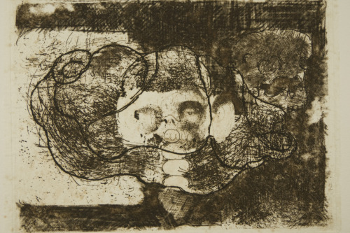 burned bread 11 x 15,5 cm Etching and chinecolle 2011