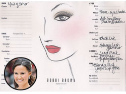 "Pippa Middleton's makeup ""how to"" from Bobbi Brown, who did the consulting with both Middleton girls for the wedding."
