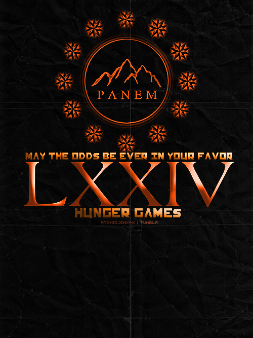 THEMED PARTY | Challenge #11: Propaganda Poster74th Hunger Games