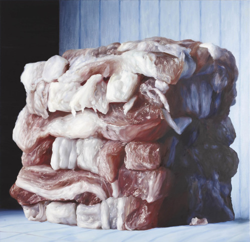 melisaki:  Baconcube #7 oil on canvas by Cindy Wright, 2006