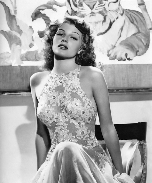 theconstantbuzz:  Rita Hayworth  where can i get this dress? and this body?