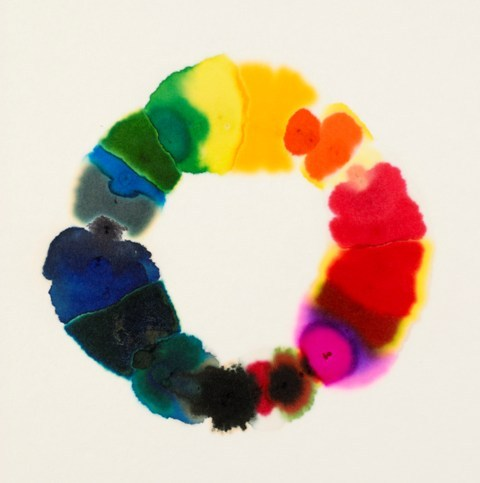 Lesley HalliwellBleeding Pens I, 2008felt tips on blotting paper VIA