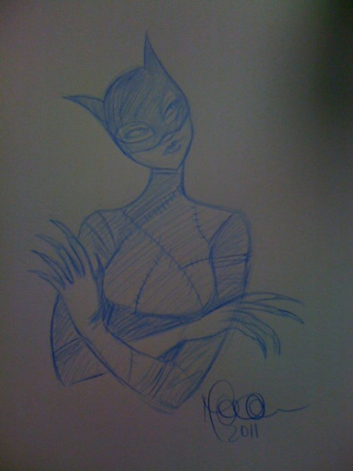 Catwoman sketch for Free Comic Book Day!