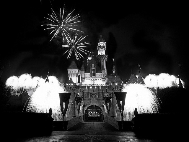 Remember Fireworks In Black And White by WJMcIntosh   Please check this out Large On Black for full effect. :) - WJMcIntosh