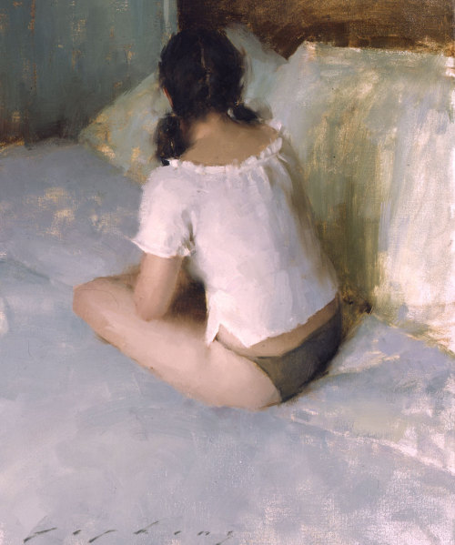"Jeremy Lipking, ""Seated Model II,"" Oil on Canvas, 20"" x 16"""