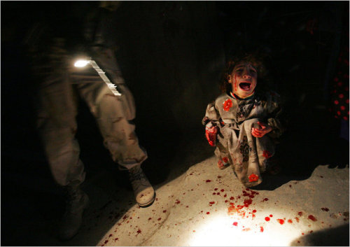 "brooklynmutt:  Iraqi Child in War Photo Tries to Move On - NYTimes  From the article: ""The photograph of Samar is frozen in history, but her life moved on, across a trajectory that is emblematic of what so many Iraqis have endured. In a country whose health care system has almost no ability to treat the psychological aspects of trauma, thousands of Iraqis are left alone with their torment."""