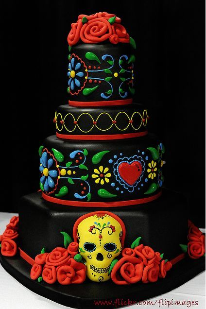 A Day of the Dead-inspired cake
