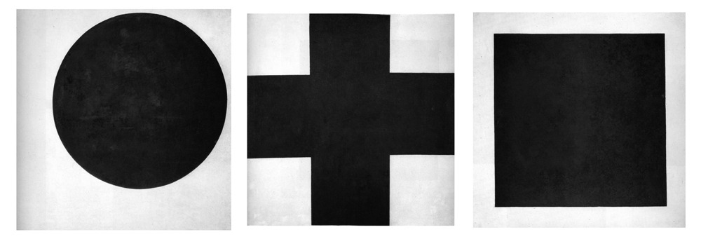 russianavantgarde:  Kazimir Severinovich Malevich - Black Circle, Black Cross, Black Square - 1915