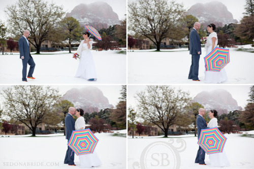 lynn and andrew { poco diablo wedding in sedona in the snow! }