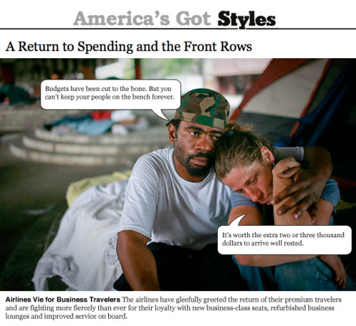 America's Got Styles is the New York Times Sunday and Thursday Styles (and associated sections) as voiced by the people of the United States of America. Original article here.  - Daniel Denvir & Natalia Smirnov