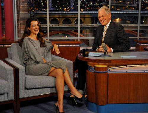 Cote De Pablo on Letterman.
