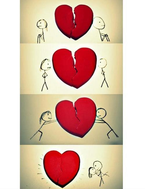 Juntos, somos apenas um só coração.
