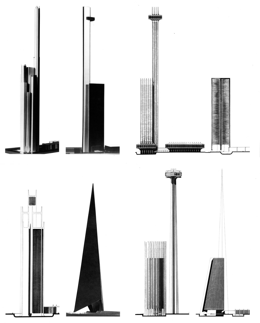 archiveofaffinities:  William Pereira, Transamerica Skyscraper, Early Schemes, San Francisco, California, 1972