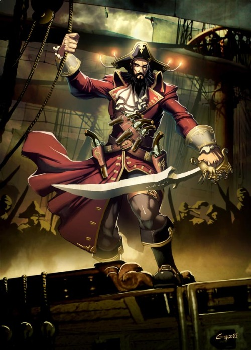 Blackbeard // by Gonzalo Ordóñez Arias / GENZOMAN T'night I be a fuckin' scurvy pirate 'n I gunna crush ye.