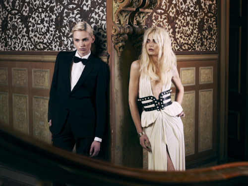 "hausofandrejpejic:  Andrej Pejic for J'Aton Couture   ""I can readily visualize Andrej Pejic as both, a Sailor and a Mermaid"" …. SailorGil"