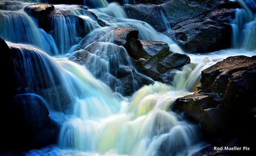 landscapelifescape:  McClarens Falls, Bay of Plenty, New Zealand Danse de l'eau (by Rod Mueller pix)
