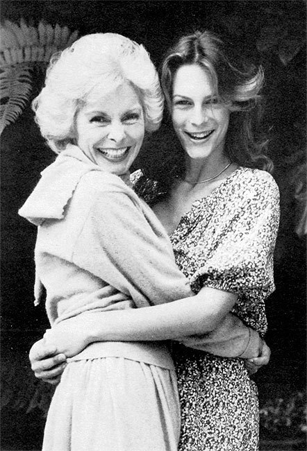 Janet Leigh and Jamie Lee Curtis