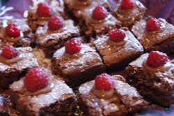 Chocolate and Raspberry Brownies.