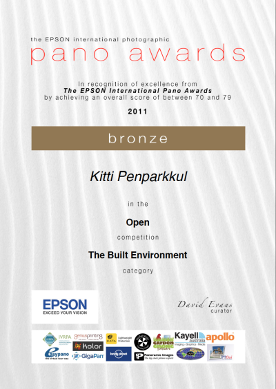 Bronze Award. The Epson International Pano Awards 2011 and Yes, my name from Thailand is Kitti as in Kitty :)