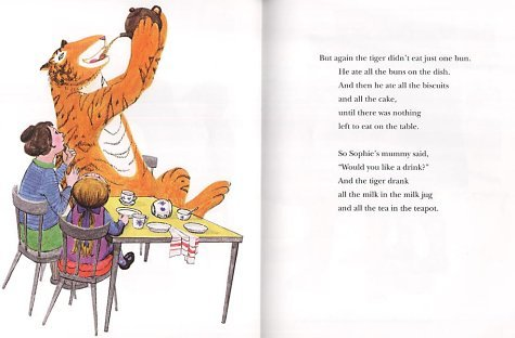 rubymaytuesday:  the tiger who came to tea, 1968 by judith kerr  this book rules