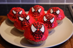 Spiderman Cupcakes.