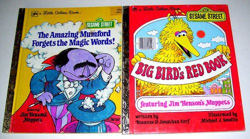 Sesame Street Little Golden Books (1980 & 1977)