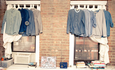 This looks like my shirt collection. All blues. via The Coveteur