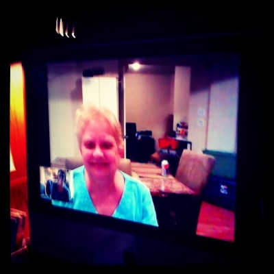Video chatting with my granny in VA (Taken with instagram)