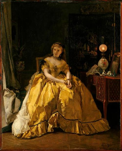 oldrags:  Return of the Ball by Alfred Stevens, date missing, Château Compiègne