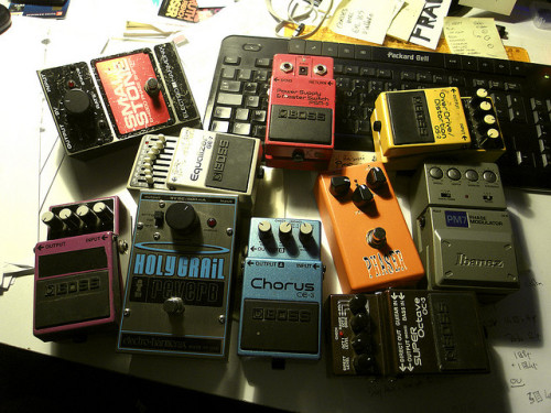 some of my stompboxes by knobknobknob on Flickr.:)