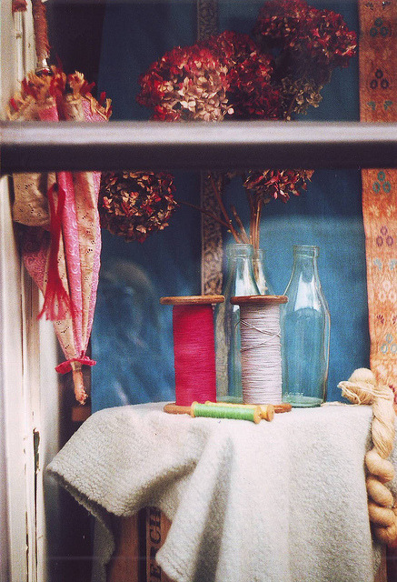 | ♕ |  Antique shop window, Portobello, London  | by sarah longworth