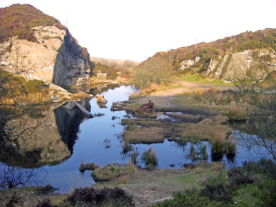 Haytor Quarry, Dartmoor, where in the early 19th century Dartmoor granite was quarried and became a commercial product.